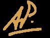 ap-signature cópia dourado